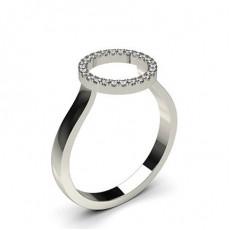 Illusion Setting Round Diamond Delicate Ring - CLRN1113_01