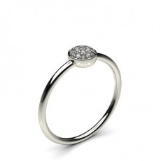 Pave Setting Round Diamond Delicate Ring - CLRN1115_01