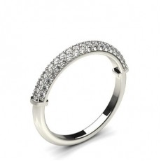 Pave Setting Round Diamond Delicate Ring - CLRN1123_01