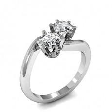 Bague 2 pierres diamant rond serti 6 griffes - CLRN1126_01