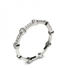4 Prong Setting Round Diamond Delicate Ring - CLRN1129_01