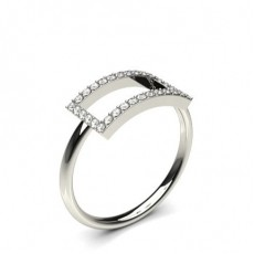 4 Prong Setting Round Diamond Delicate Ring - CLRN1130_01