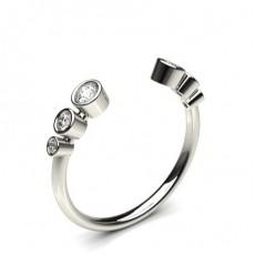 Full Bezel Setting Round Diamond Delicate Ring - CLRN1132_01