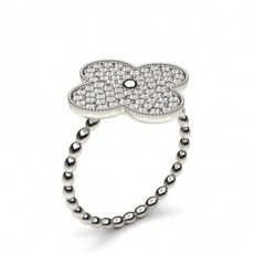 Pave Setting Round Diamond Delicate Ring - CLRN1134_01