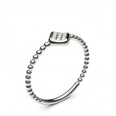 4 Prong Setting Round Diamond Delicate Ring - CLRN1135_01