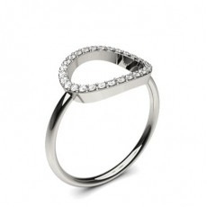 Pave Setting Round Diamond Delicate Ring - CLRN1139_01