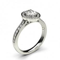 Multi Diamant Verlobungsring in einer Krappenfassung mit Schulter Diamanten - CLRN1140_01