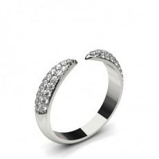 Bague 3 pierres diamant baguette serti barette 0.40ct
