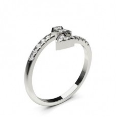 Pave Setting Round Diamond Delicate Ring - CLRN1171_01