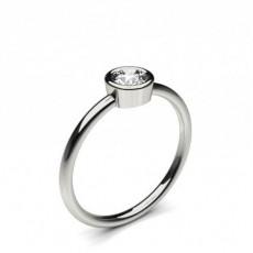 Full Bezel Setting Round Diamond Promise Ring