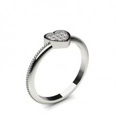Pave Setting Round Diamond Delicate Ring - CLRN1183_02