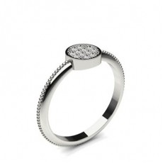 Pave Setting Round Diamond Delicate Ring - CLRN1183_03