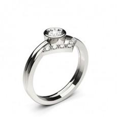 White Gold Bridal Set Diamond Engagement Ring - CLRN1185_01