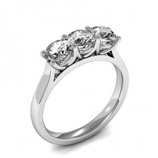 4 Prong Setting Plain Three Stone Ring - CLRN1199_01