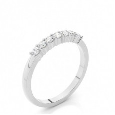 Bague 7 pierres diamant rond serti 4 griffes - CLRN1211_01