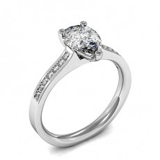 3 Prong Setting Side Stone Engagement Ring - CLRN1213_01