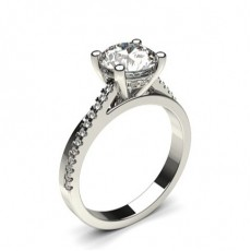 4 Prong Setting Side Stone Engagement Ring - CLRN1226_01