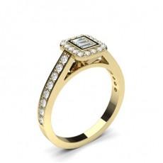 Runder-und-baguette Mehrfachdiamant Ring in einer Kanalfassung - CLRN1227_01