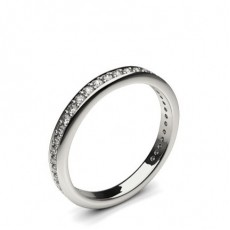 Pave Setting Half Eternity Diamond Ring (Available in 0.25ct.)