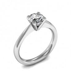 4 Prong Setting Round Diamond Plain Engagement Ring - HG0630_A30