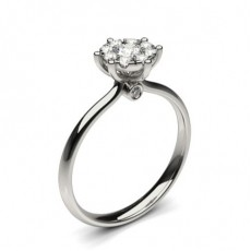 White Gold Cluster Diamond Engagement Ring - CLRN1295_01
