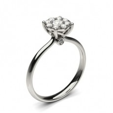 White Gold Cluster Diamond Engagement Ring - CLRN1295_02