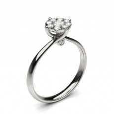 White Gold Cluster Diamond Engagement Ring - CLRN1295_03