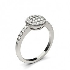 Pave Setting Round Diamond Cluster Ring - CLRN1297_01