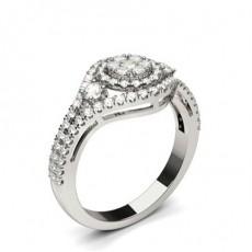 Silver Side Stone Diamond Rings
