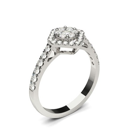 Full Bezel Setting Medium Engagement Ring
