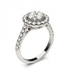 White Gold Cluster Diamond Engagement Ring - CLRN1304_01