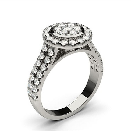 Full Bezel Setting Medium Engagement Ring