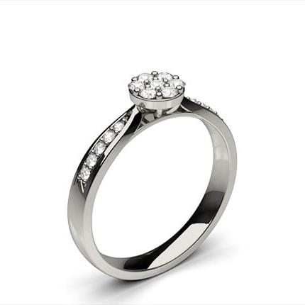 Medium Diamant Ring in einer Zargenfassung