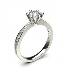 6 Prong Setting Side Stone Engagement Ring - CLRN1315_01