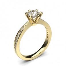 Diamant Verlobungsring in einer Krappenfassung mit Schulter Diamanten - CLRN1315_01