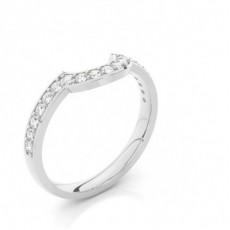 2.50mm Studded Slight Comfort Fit Diamond Shaped Band