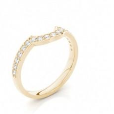 2.50mm Studded Slight Comfort Fit Diamond Shaped Band - CLRN1316_01