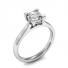 Bague de fiançailles solitaire diamant princesse serti 4 griffes - CLRN1339_01