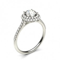 4 Prong Setting Side Stone Halo Engagement Ring - CLRN1347_01