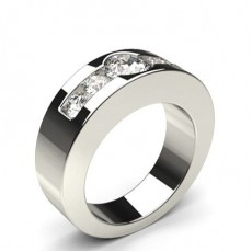 Channel Setting Plain Five Stone Ring (Available in 0.75ct.)