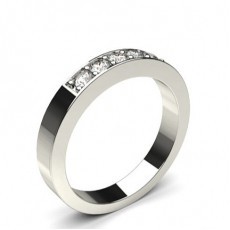Pave Setting Plain Five Stone Ring (Available in 0.25ct.)