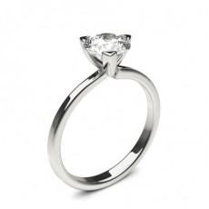 3 Prong Setting Round Diamond Plain Engagement Ring - CLRN1364_01