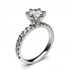 Diamant Verlobungsring in einer Krappenfassung mit Schulter Diamanten - CLRN1369_01