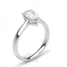 Pear White Gold Classic Solitaire Engagement Rings