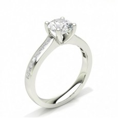 Prong Setting Side Stone Engagement Ring