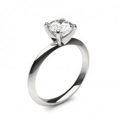 4 Prong Setting Round Diamond Plain Engagement Ring - CLRN1383_01