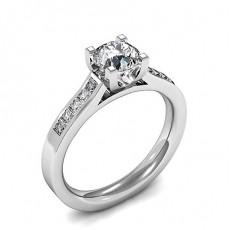 Diamant Verlobungsring in einer Krappenfassung mit Schulter Diamanten - CLRN1483_01