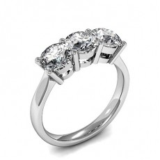 4 Prong Setting Plain Three Stone Ring - CLRN1489_01