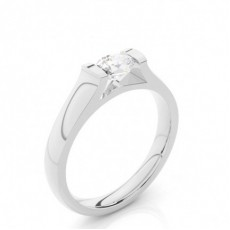 Tension Setting Oval Diamond Plain Engagement Ring - CLRN1530_01