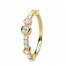Full Bezel Setting Half Eternity Diamond Ring - CLRN1538_01